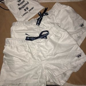 Two XS Royal Highnies Sleep Shorts